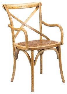 French Heritage Bosquet Chairs, Light Oak, Arm Chair