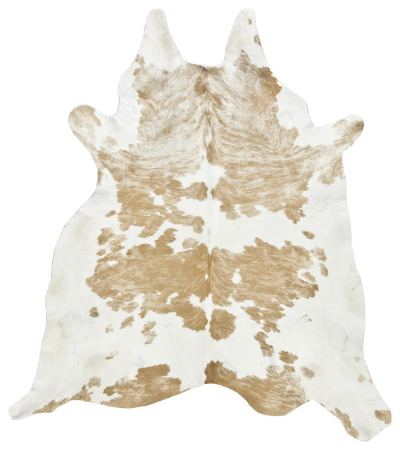Special Cowhide Rug, Palomino and White, Large contemporary-novelty-rugs
