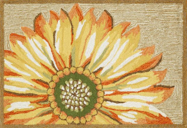"""Frontporch Sunflower Mat, Yellow, 24""""x36""""."""