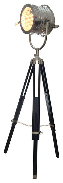 master sealight tripod floor lamp, hand made replica - industrial