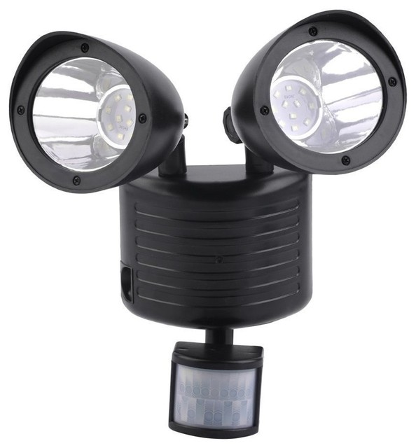 Solar powered light with motion sensor black modern outdoor flood and spot lights by - Modern outdoor solar lights ...