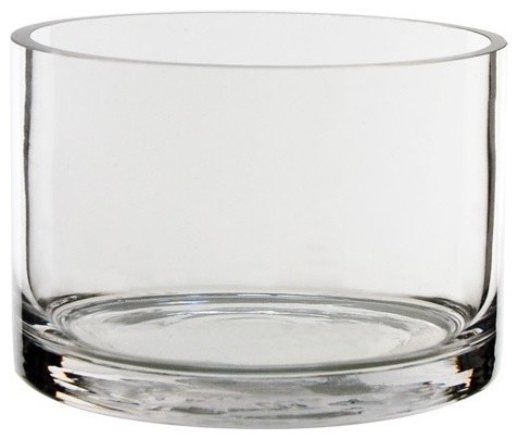 """Glass Cylinder Vase. 4"""", Open 6"""", 12 Pieces"""