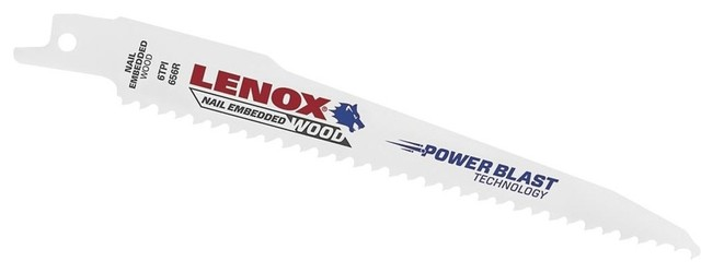 "100 PACK Lenox 656R 6/"" x 6 TPI Bi-Metal Reciprocating Saw Blade Wood w// Nails"