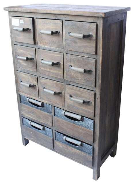 Rustic Farmhouse Multi Drawer Cabinet, Reclaimed Wood