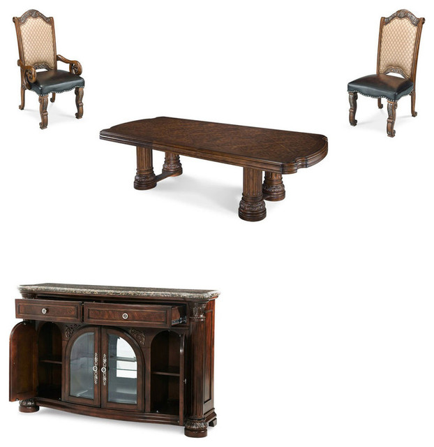 monte carlo ii dining room set cafe noir 10 piece set michael amini monte carlo ii traditional luxury dining