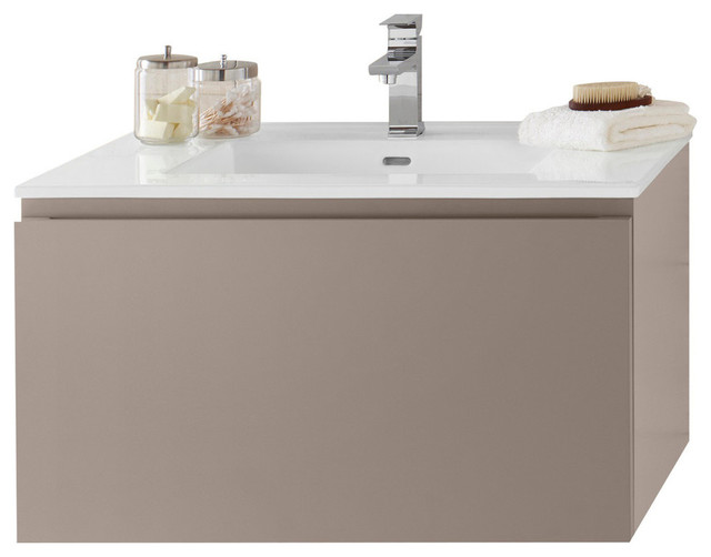 Ronbow 31 Ariella Solid Wood Wall Mount Vanity Set With Ceramic Sink Top