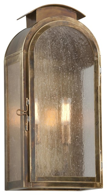 Troy Lighting B4402 Copley Square 2 Light Outdoor Wall Sconce, Historic Brass.