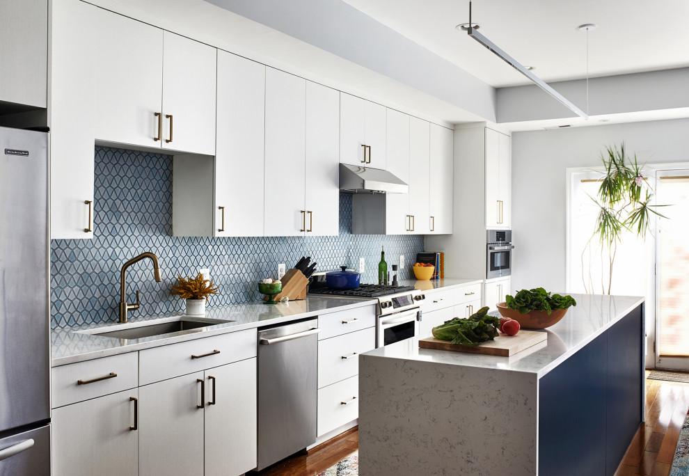 Example of a trendy home design design in DC Metro