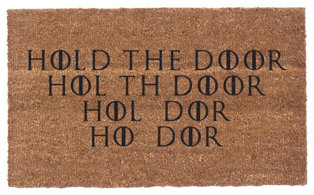 Hold The Door Coco Doormats.