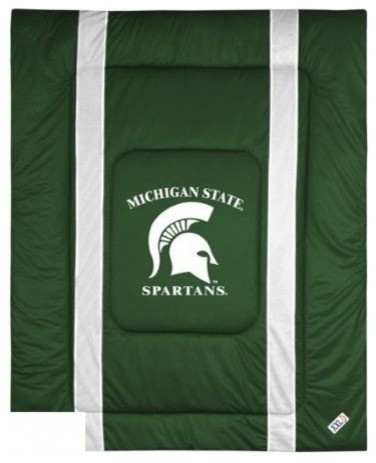 wholesale dealer e3f8f d8881 NCAA Michigan State Spartans Comforter Sidelines Bedding - Contemporary -  Comforters And Comforter Sets - by SportsKids LLC