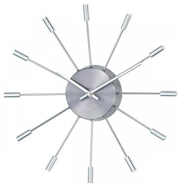 pill clock silver