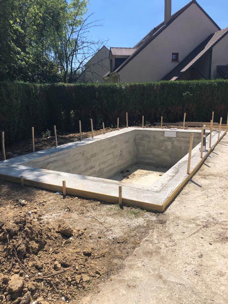 Construction piscine à Marolles en Brie