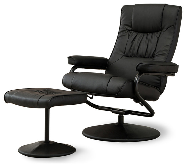 Premium Leather Swivel Recliner With Ottoman 2 Piece Set