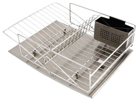 zojila rohan stainless steel dish rack drain board and utensil holder contemporary dish. Black Bedroom Furniture Sets. Home Design Ideas