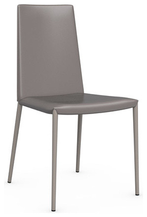 Boheme Leather Chair, Taupe, Set of 2