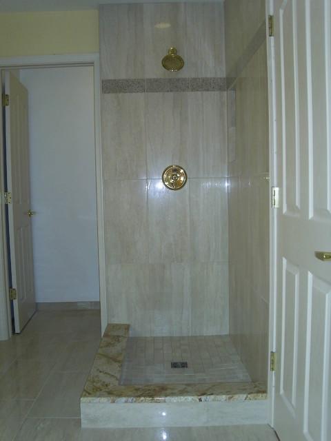 12x24 Porcelain Shower Detroit By Maloney Tile