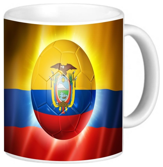 f45e2b0dae86 Brazil World Cup 2014 Ecuador Football Soccer Flag Coffee Mug