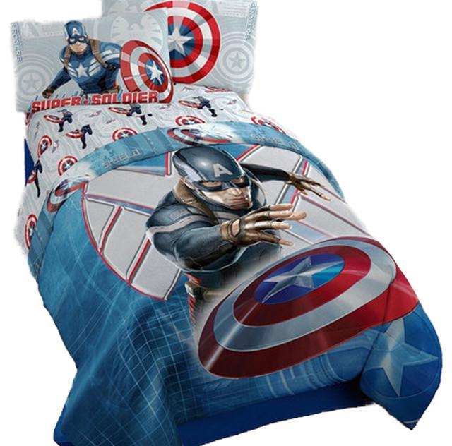 captain america bedding set marvel winter soldier bed