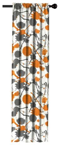 Orange Paint Splatter Window Panel, 120 X 50.
