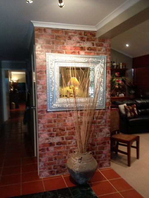living room brick wallpaper - photo #23