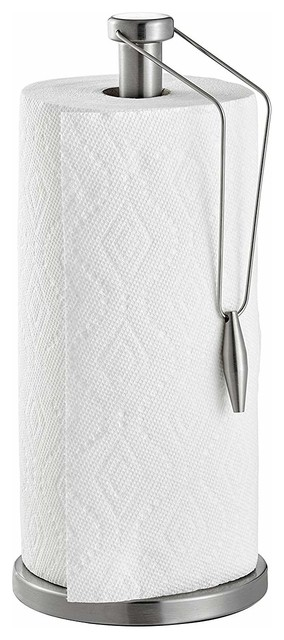 Alpine  Stainless Steel Paper Towel Holder With Slip-Resistant Base