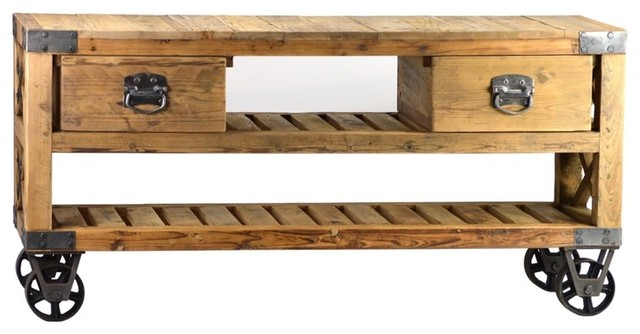 French Rustic Industrial Style Plasma TV Stand - Modern - Side Tables And End Tables - Los ...