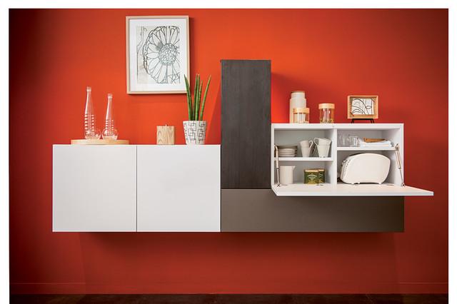 Wall mounted sideboard