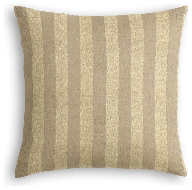 Shop Houzz Loom Decor Metallic Gold Stripe Throw Pillow - Decorative Pillows