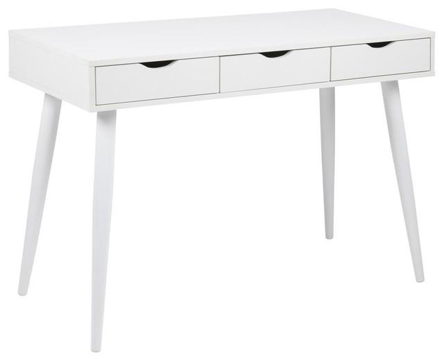 Neptune Desk, White Drawers
