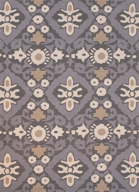 Floral And Leaves Pattern Polyester Devine Area Rug Wet