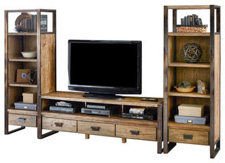 "84"" Console With Piers - Industrial - Entertainment ..."