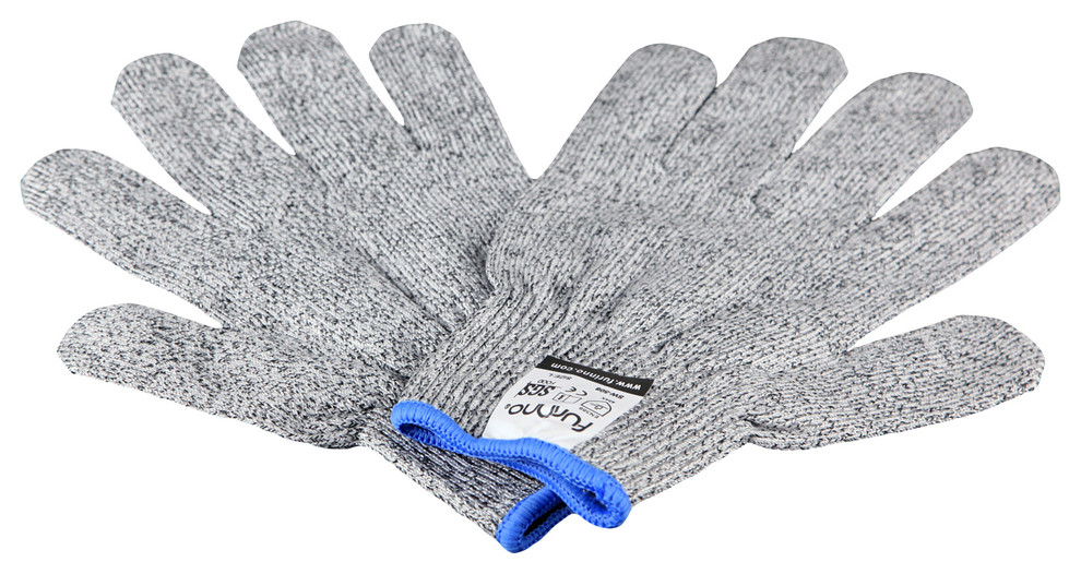 Medium Blade Resistant Lightweight Gloves ASNI Level 5 Protection,Safety Hand Gloves,Working with Knives,Cutters,Graters in Kitchen,Woodworking,Carving,Carpentry