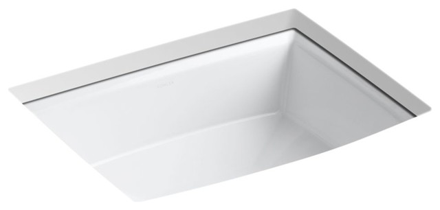 Kohler Archer Under-Mount Bathroom Sink, White.