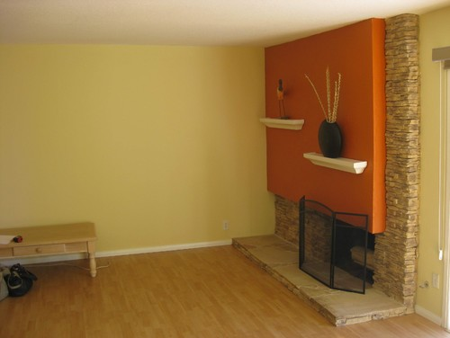 Asymmetrical fireplace redo - entire wall?, arch? ... design questions