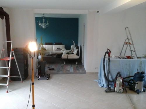 Urgent avis peinture for Peinture bleu canard cuisine
