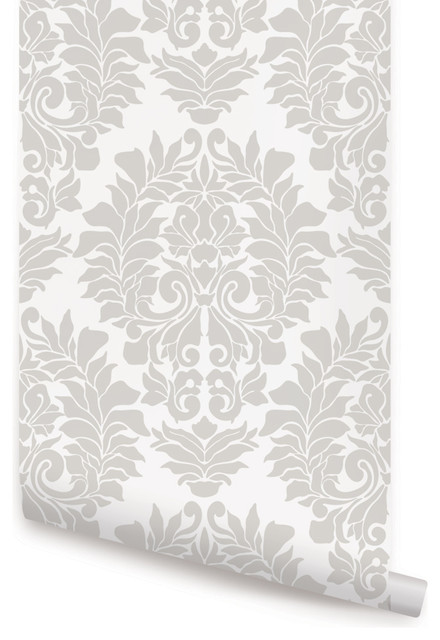 Classic Damask Wallpaper Peel And Stick Farmhouse Wallpaper By Simple Shapes
