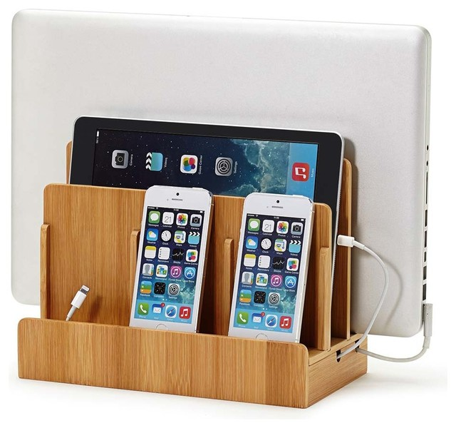 Marvelous Smart Charging Station Power Hub, Eco Friendly Bamboo Contemporary Charging  Stations