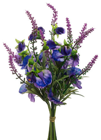 Silk plants direct sweet pea and lavender bouquet pack of 12 silk plants direct sweet pea and lavender bouquet pack of 12 mightylinksfo