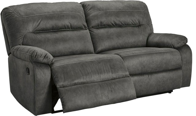 Ashley Furniture Bolzano 2 Seat Reclining Sofa Slate Transitional