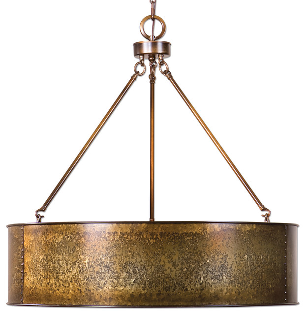 Uttermost Wolcott 5 Light Golden Pendant