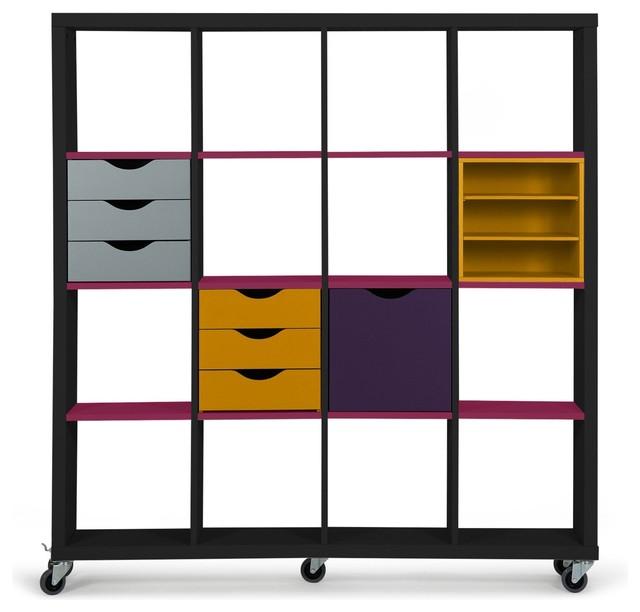 kubico corps 16 cases contemporain tag re et vitrine. Black Bedroom Furniture Sets. Home Design Ideas