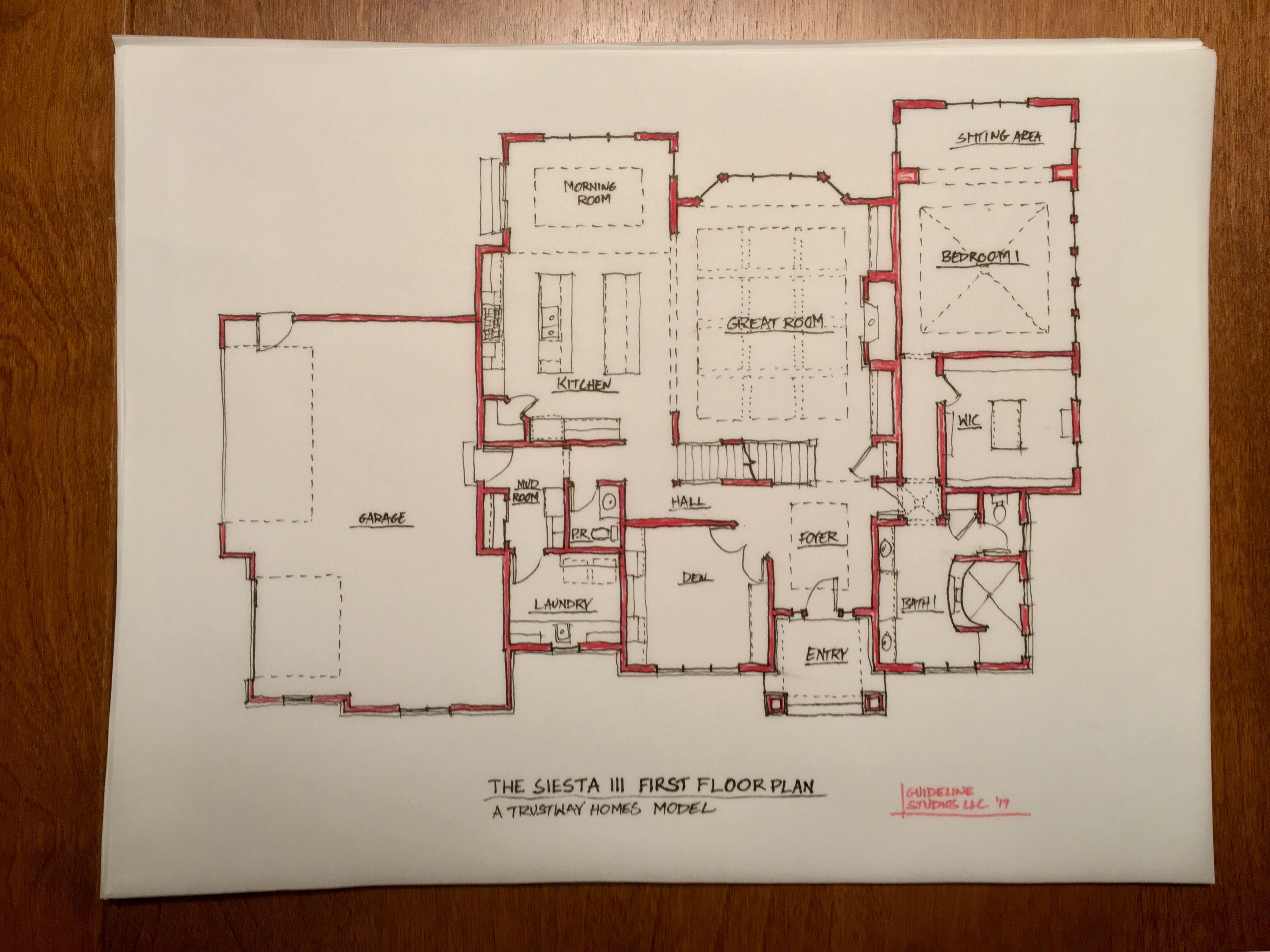 Siesta III Floor Plan Sketch