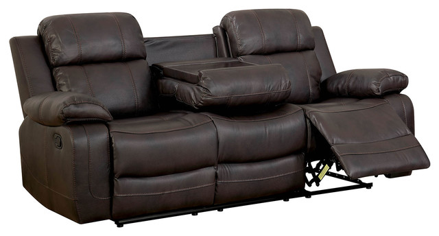 Double Recliner Sofa, Brown