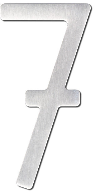 Self adhesive stainless steel condo complex numbers for Self adhesive house numbers and letters