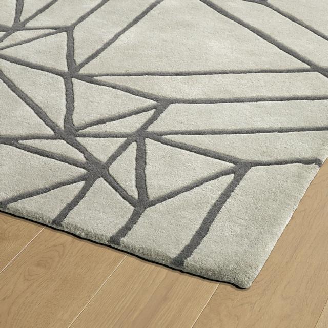 Kaleen Hand-Tufted Origami Wool Rug, Mint, 8'x10'