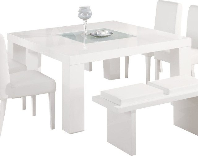 Furniture USA Lony Square Dining Table In White Modern Dining Tables