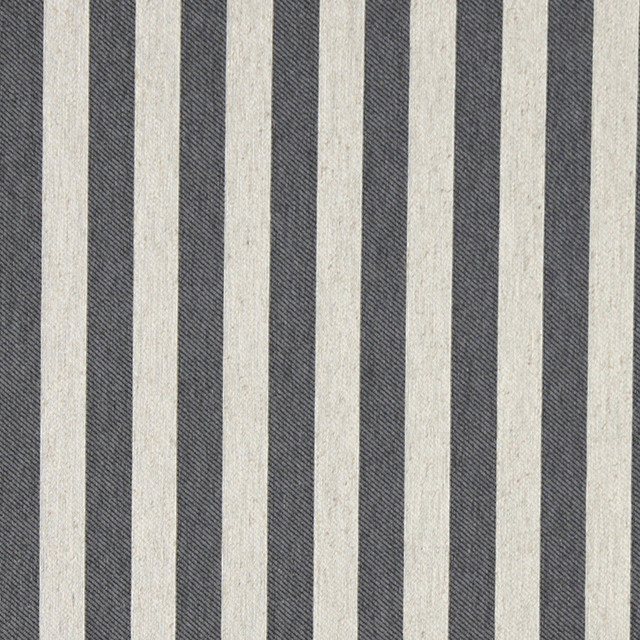Palazzo Fabrics Grey And Off White Striped Linen Look