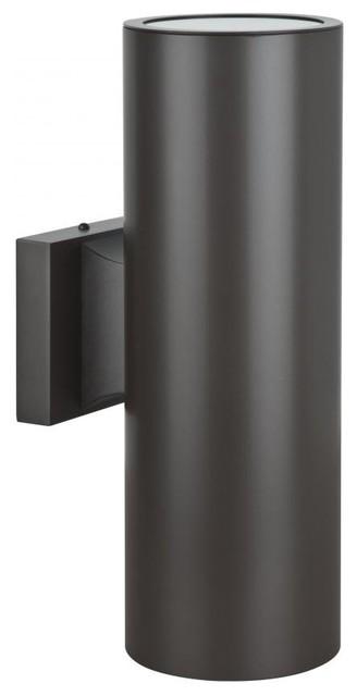 "2-Light 5"" Round Aluminum Wall Sconce Oil Bronze"