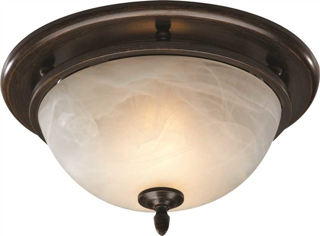 Decorative Bath Fan Light 70 Cfm Oil Rubbed Bronze  Transitional Flush Mount Ceiling