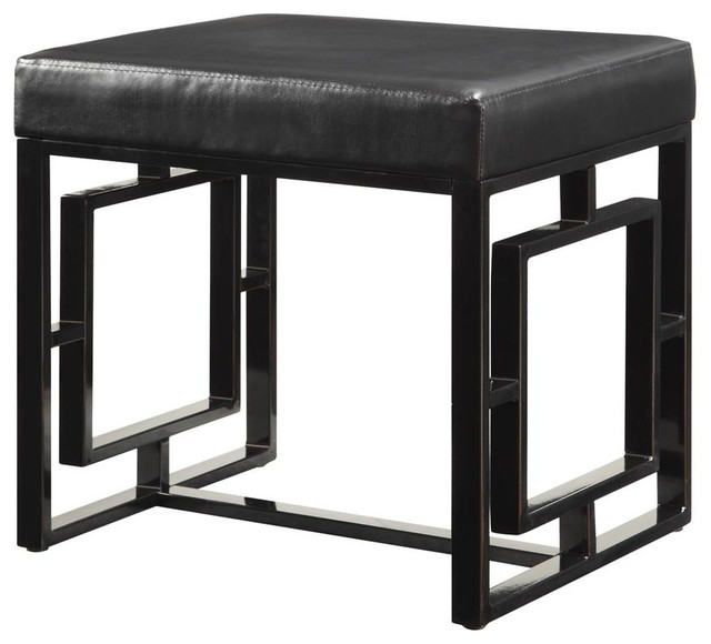 vanity bench black contemporary accent and storage benches by shopladder. Black Bedroom Furniture Sets. Home Design Ideas